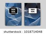 dark blue vector brochure for... | Shutterstock .eps vector #1018714048