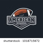 american football emblem with...   Shutterstock .eps vector #1018715872