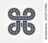 abstract race symbol  isolated... | Shutterstock .eps vector #1018715986