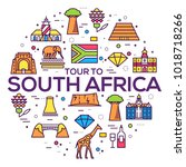 set of south africa country... | Shutterstock .eps vector #1018718266