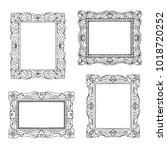four hand drawn picture frames... | Shutterstock .eps vector #1018720252