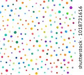 watercolor confetti seamless... | Shutterstock . vector #1018731616