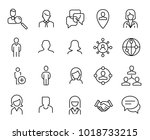 simple collection of social... | Shutterstock .eps vector #1018733215