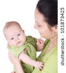 happy beautiful young mother... | Shutterstock . vector #101873425