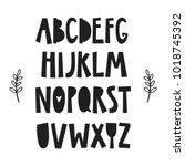 alphabet poster for baby room ... | Shutterstock .eps vector #1018745392