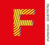 letter f  capital letter for... | Shutterstock .eps vector #1018745782
