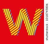 letter w  capital letter for... | Shutterstock .eps vector #1018745806