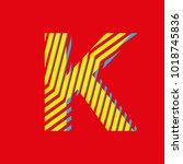 letter k  capital letter for... | Shutterstock .eps vector #1018745836