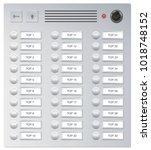 doorbells. video intercom... | Shutterstock .eps vector #1018748152