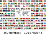 vector set of all world flags... | Shutterstock .eps vector #1018750945