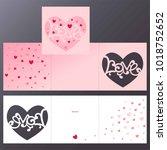 laser cutting template of... | Shutterstock .eps vector #1018752652