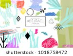 abstract universal art web... | Shutterstock .eps vector #1018758472