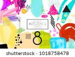 abstract universal art web...   Shutterstock .eps vector #1018758478