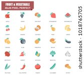simple set of fruit and... | Shutterstock .eps vector #1018765705