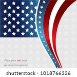 abstract image of the american...   Shutterstock .eps vector #1018766326