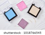 make up cosmetics set  top view.... | Shutterstock . vector #1018766545