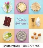 pesah celebration concept ... | Shutterstock . vector #1018774756