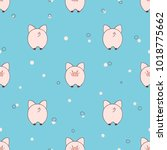 seamless pattern with cute... | Shutterstock .eps vector #1018775662