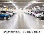 blurred photo of cars in the... | Shutterstock . vector #1018775815