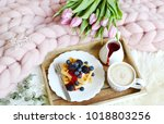 cup with cappuccino and... | Shutterstock . vector #1018803256