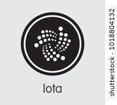 iota   cryptocurrency logo. | Shutterstock .eps vector #1018804132