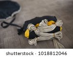 canopy of the parachute is...   Shutterstock . vector #1018812046