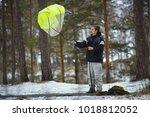 base jumper checking the work...   Shutterstock . vector #1018812052