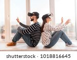 great time. earnest loving... | Shutterstock . vector #1018816645