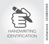 handwriting identification flat ... | Shutterstock .eps vector #1018824565