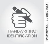 handwriting identification flat ... | Shutterstock .eps vector #1018824565