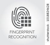 fingerprint recognition black...   Shutterstock .eps vector #1018824628