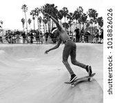 los angeles  california   usa   ... | Shutterstock . vector #1018826026