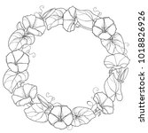 vector round wreath with... | Shutterstock .eps vector #1018826926