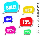 modern sale stickers and tags... | Shutterstock .eps vector #1018833952