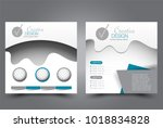 square flyer design. a cover...   Shutterstock .eps vector #1018834828