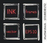 frames with whimsical swashes.... | Shutterstock .eps vector #1018838152