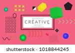 minimal universal banner... | Shutterstock .eps vector #1018844245