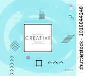 minimal universal banner... | Shutterstock .eps vector #1018844248