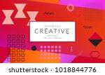 minimal universal banner... | Shutterstock .eps vector #1018844776