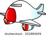 jumbo jet vector illustration | Shutterstock .eps vector #101884696