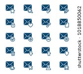set of mail icons. vector... | Shutterstock .eps vector #1018850062