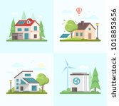 eco friendly complex   set of... | Shutterstock .eps vector #1018853656