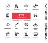 eyes   line design silhouette... | Shutterstock .eps vector #1018853692