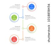 circle infographic template... | Shutterstock .eps vector #1018858456