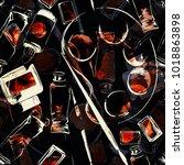 imprints art supplies mix... | Shutterstock . vector #1018863898