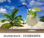 refreshing summer cocktail at... | Shutterstock . vector #1018866856
