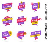 sale banners design templates... | Shutterstock .eps vector #1018867945