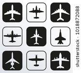plane icon set. airplane... | Shutterstock .eps vector #1018872088