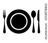 restaurant vector icon | Shutterstock .eps vector #1018878862
