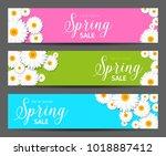 spring sales banner   for any... | Shutterstock .eps vector #1018887412
